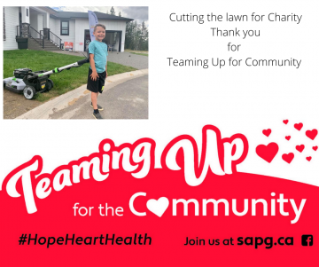 Cutting Lawn for Charity