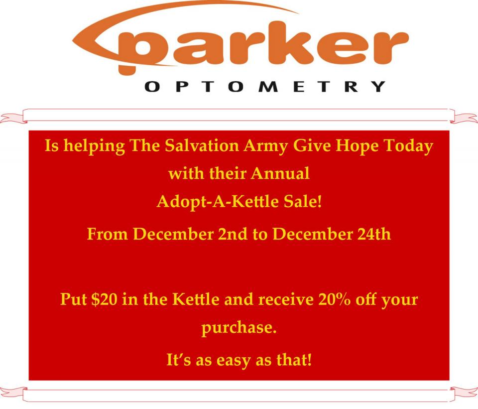 Parker Optometry Adopt-A-Kettle