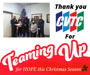 CVTC Donates to The Salvation Army