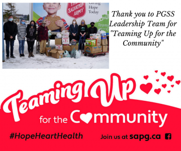 PGSS Leadership team donate to The Salvation Army Food Bank