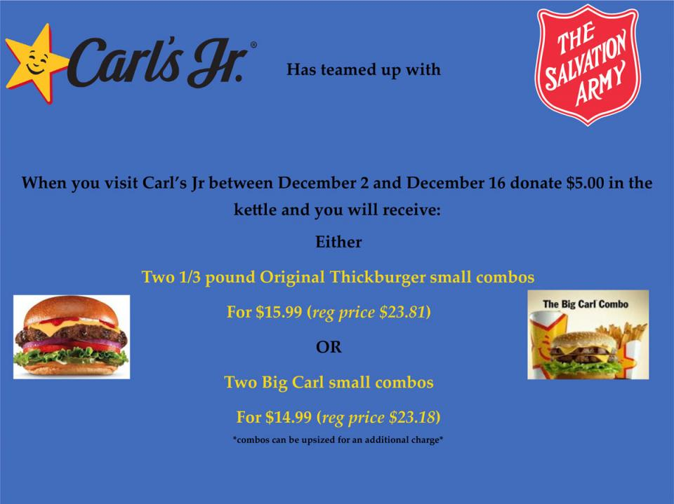 Carl's Jr Adopt-A-Kettle Promotion