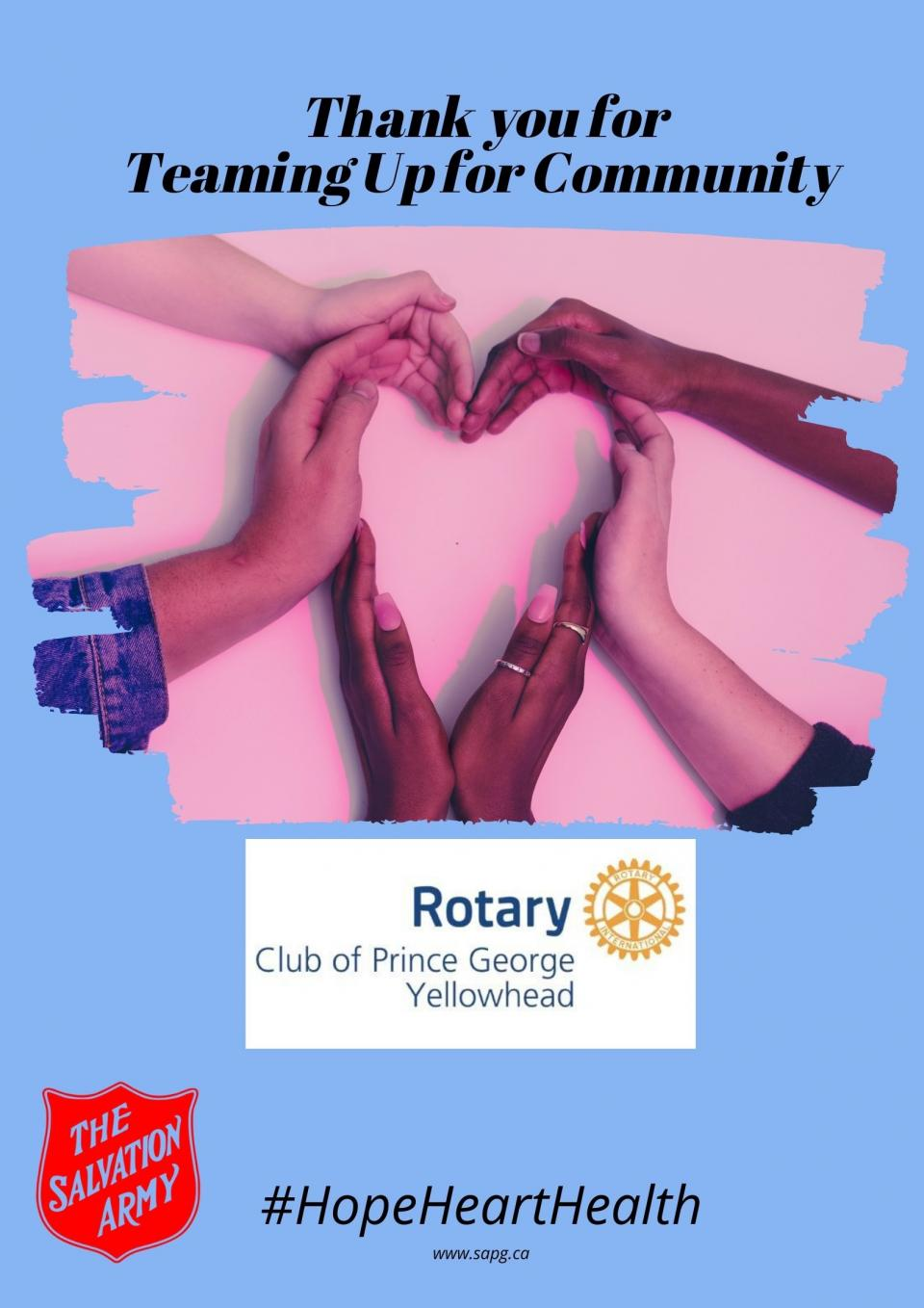 Teaming Up for the Community - Rotary