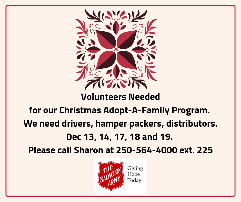 Adopt-A-Family Volunteers Needed
